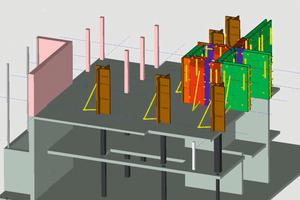 Die Schalungsplanung lässt sich bauabschnittsweise und taktweise anzeigen, ausgeben, berechnen und nachverfolgen. Damit behält die Arbeitsvorbereitung und die Bauleitung stets den Überblick über das Bauprojekt.