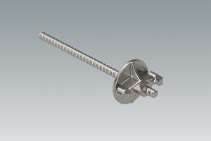 Geankert wird mit einem Spannstahl DW 15 oder B 15 und einer Mutterplatte.