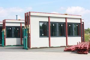 Zum Verladen fertige Bauteile in einem Goldbeck-Werk<br />