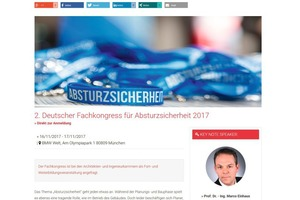 "Deutscher Fachkongress für Absturzsicherheit<span class=""info_link""><a href=""http://bauverlag-events.de/absturzssicherheit"" target=""_blank"">http://bauverlag-events.de/absturzssicherheit</a></span>"