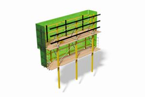 Die RKS-Kletterschalung basiert auf dem MK-System. Es ist sehr anpassungsfähig.
