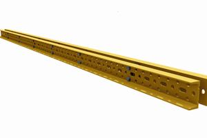 Die MK-120 bzw. MK-180 Riegel bilden das Grundelement des MK-Systems. Es besteht aus zwei miteinander verschraubten UPN-Profilen mit dreireihigem Lochraser im Steg.