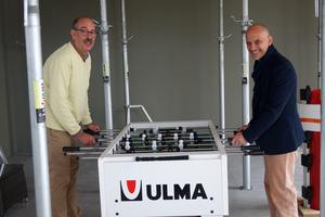 Harald Litze (l.) und Thomas Fiebig spielen sich bei Ulma die Bälle zu – kollegial und auf höchstem technischen Niveau.