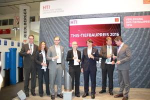Preisverleihung THIS Tiefbaupreis 2016 im Rahmen der Messe IFAT in München.<br />