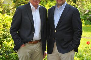 Die Geschäftsführenden Gesellschafter der Franz Carl Nüdling Basaltwerke GmbH + Co. KG, Peter Nüdling (links) und Bernhard Pilz.<br />