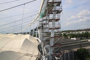 Die neue Korrosionsschutzbeschichtung von Sika wurde auf engstem Raum in bis zu 50 Metern Höhe durchgeführt.