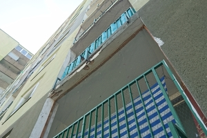 Vor der Sanierung: Die Loggien und Balkone boten kaum Aufenthaltsqualität.