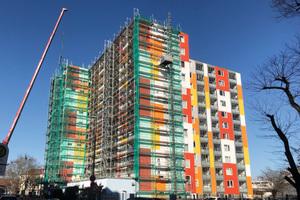 Im Zuge der Baumaßnahme wird das Erscheinungsbild der Fassade deutlich verbessert.