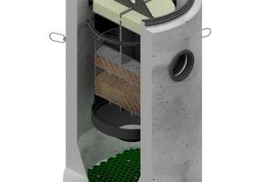 Neue Maßstäbe in der Niederschlagswasserbehandlung setzt das System Aco Hydrosed active, das belastete Oberflächenabflüsse zuverlässig innerhalb eines kompakten Betonbehälters reinigt.<br />