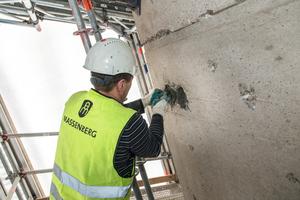 Die Flächen wurden mit einem polymervergüteten zementgebundenen Betonersatz (PCC) verschlossen.
