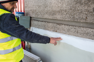 Abschließend wurde ein OS-C Oberflächenschutzsystem eingebaut, das für frei bewitterte Betonflächen geeignet ist und den Beton vor Wasser, Kohlenstoffdioxid und Chloriden schützen soll.