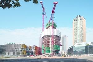 Bis auf 172 m wächst Deutschlands höchstes Wohngebäude, der Grand Tower in Frankfurt.