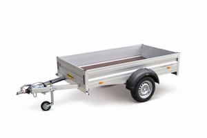 Auch leistungsfähige kleine Anhänger für den Betrieb an Pkw oder Transporter hat Humbaur im Programm.