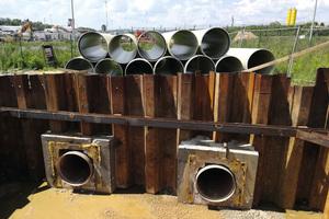 Für das neue Regenwasser-Kanalsystem des Flughafens Krakau lieferte Amiblu eine hocheffiziente Kombination aus Hobas und Flowtite GFK-Rohren.