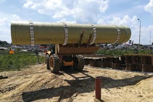 Lowtite-Rohre mit Distanzringen wurden eingesetzt, um ein nachhaltiges Rohr-in-Rohr-System zu bilden.