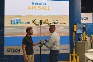 Sitech präsentierte einen Querschnitt der Maschinensteuerungs-, Bauvermessungs- und Baustellenmanagementsystemen.
