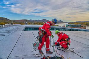 Die Pause bot den Besuchern die Gelegenheit, die spektakuläre Dachkonstruktion des Kameha Grand Hotel Bonn zu besichtigen.<br />