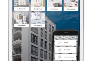 Die App vereint Informationen und Funktionen rund um das Thema Kalksandstein.<br />