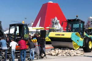 Auf dem Freigelände zeigt Ammann seine neuen Technologien und Produkte.