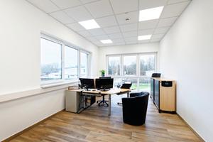 Das neue Gebäude beherbergt zehn Büros und Nebenräume.