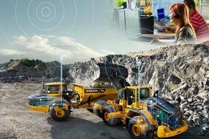 Die Maschinendaten werden mittels Care Track erfasst und von Volvo Uptime Centern auf der ganzen Welt fernüberwacht.<br />