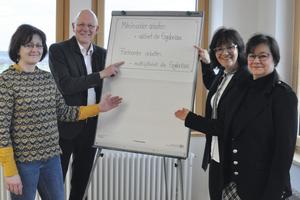 Ein Grundsatz, nach dem sich alle richten: Kathrin Hess, Wolfgang Schubert-Raab, Gisela Raab und Constanze Köpke (von links).