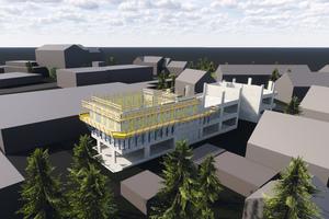 Der Bausoftware-Hersteller Sofistik AG bekommt ein neues Bürogebäude in Nürnberg, Deutschland. Die Schalungslösung liefert Doka.