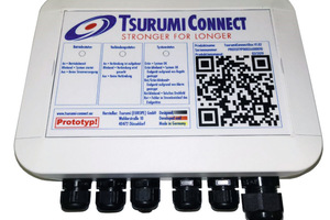 """""""Tsurumi Connect"""" erfasst die Leistungsdaten einer Maschine, wertet sie aus, steuert ihren Betrieb automatisch oder manuell initiiert und überwacht den Standort."""