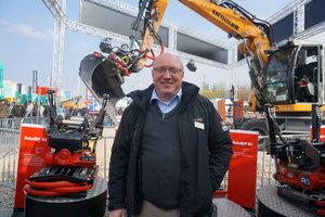 Wolfgang Vogl, Geschäftsführer der Rototilt GmbH, zieht ein positives Bauma-Fazit.