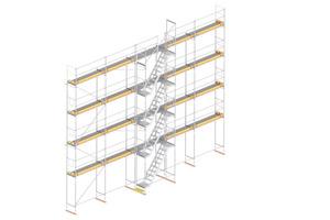 Bosta Alu Treppe G2: Die neue Generation der Bosta Alu Treppe erfüllt alle relevanten Sicherheitsanforderungen für den temporären Höhenzugang im Bau.<br />