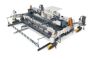Das robuste Maschinendesign der Wirtgen Gleitschalungsfertiger SP 124i/SP 124 und SP 124 Li/SP 124 L ermöglicht einen kontinuierlich leistungsstarken Betoneinbau und präzise Einbauergebnisse auch unter schwierigen Baustellenbedingungen.