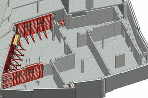 Im digitalen Schalungsmodell werden die einzelnen Takte separat dargestellt, was die Anwendung vereinfacht.