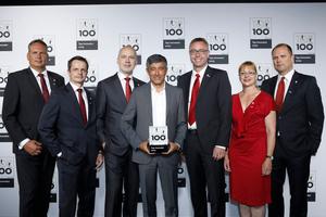 Zum zweiten Mal für seine Innovationsfreude ausgezeichnet: Das Algeco-Management freut sich über die erneute Wahl unter die TOP 100 des deutschen Mittelstands. (Quelle: Algeco)