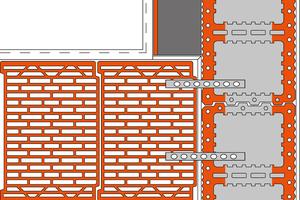 Grafiken zeigen, wie einzelne Anschlusslösungen auszuführen sind. Auf diese Weise sind etwa die unterschiedlichen Möglichkeiten beim Einbinden von Wohnungstrennwänden leicht nachvollziehbar. (Quelle: Unipor Ziegel Gruppe)
