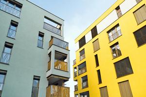 In Landshut wurden fünf Mehrgeschossbauten mit massiven Mauerziegeln verwirklicht. Wichtig für die statische Bemessung war die Druckfestigkeit des Baustoffes: Der WS10 Coriso entspricht der Steinfes-tigkeitsklasse 12.