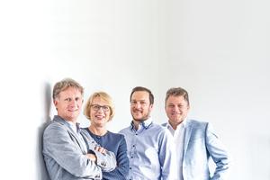 Das Management Team: Jürgen Lofi, Bärbel Maempel, Andreas Hofherr, Bernd Schlenker (v. l.).
