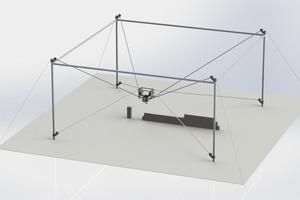 Mit Seilrobotern für KS-Mauerwerk können in kürzerer Zeit komplette Gebäude bei verringertem Personaleinsatz errichtet werden.