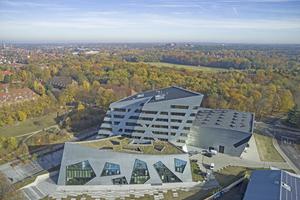 Das Dach EG Forschung wurde als Kompaktdach mit Foamglas T4+ Gefälleplatten ausgeführt.