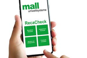 Bildunterschrift: Mit der neuen Wartungs-App von Mall bleibt der Ordner mit dem Betriebsbuch im Büro – für Wartung und Eigenkontrolle reicht ein Smartphone.