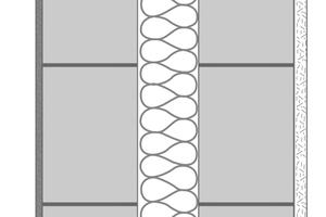 Dank massiver Schalen aus Leichtbeton-Mauer-werk wird beim Triotherm-System der innenliegende, mineralische Dämmstoffkern von Witterungseinflüssen abgeschirmt. So kommt er ohne eine Behandlung mit Algiziden und Fungiziden aus.