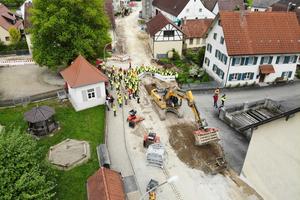 Die Suche nach einer geeigneten Modellbaustelle – bei der Sanierung sollen alle Kanäle und Straßen im Bestand komplett erneuert werden – dauerte über drei Jahre.