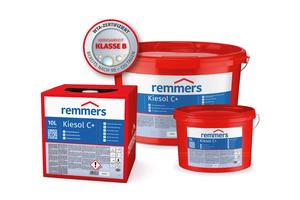 Einen besonderen Schutz gegen aufsteigende Mauerwerksfeuchte soll Kiesol C plus von Remmers bieten.