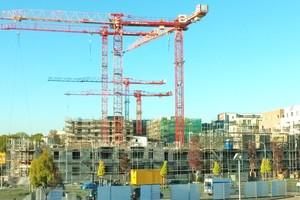 Die BG BAU informiert die Unternehmen über wirksame Maßnahmen zum Arbeitsschutz auf den Baustellen.(Quelle: Thomas Lucks / BG BAU)
