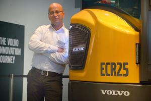 Ahcène Nedjimi, Spezialist für Elektromobilität bei Volvo CE
