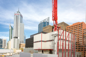 Unweit des höchsten Gebäudes der Stadt entsteht mit dem 900 Hay Street Hotel in Perth ein weiteres Hochhausprojekt.<br />