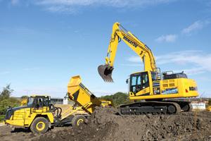 """Der HB215LC-3 Hybrid-Raupenbagger ist mit einer """"intelligenten Maschinenkontrolle"""" ausgestattet.<br />"""