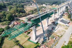 Baustelle der neuen Intercity-Strecke Toluca-Mexico City.