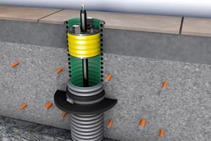 Für Hauseinführungen über Bodenplatten aus Beton kombinieren Handwerker das Kabelschutzrohr Kabuflex R plus Typ 750 mit der Innendichtung Kabu-IN DD und dem Mauerkragen-Set von Fränkische. Die Dichtheit dieses Systems ist nach DVGW VP 601 geprüft und erfüllt die Anwenderregel VDE-AR-N 4100 (TAR Niederspannung).