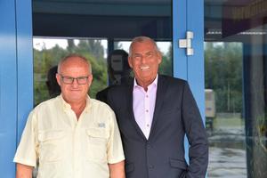 Firmengründer Willibald Klarmann (l.) und HCEE-Verkaufsleiter Deutschland Süd, Joachim Bog.