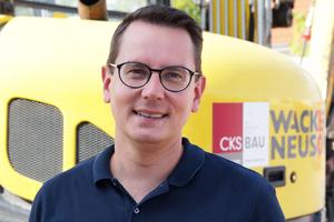 v.l.n.r.: Lars Grundmann ist Geschäftsführer der CKS-Bau.
